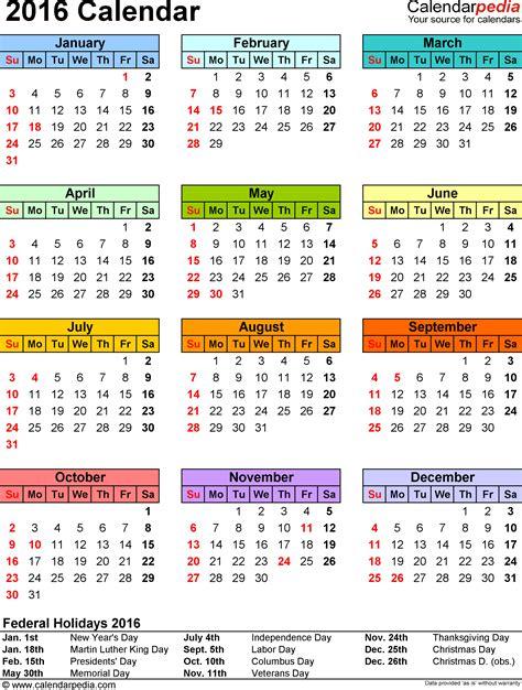 Yearly Calendar Template 2016 CV Templates Download Free CV Templates [optimizareseo.online]