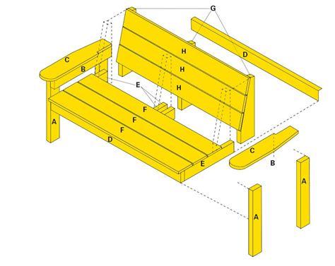 Yellawood bench plans Image