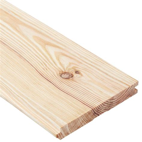 Yellow pine tongue and groove Image