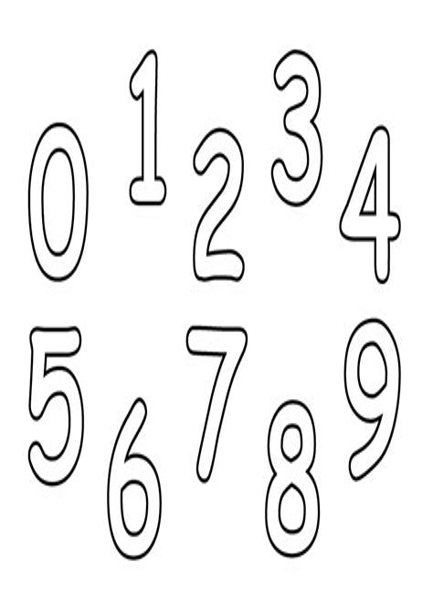 Zahlen Ausmalbilder Ausdrucken