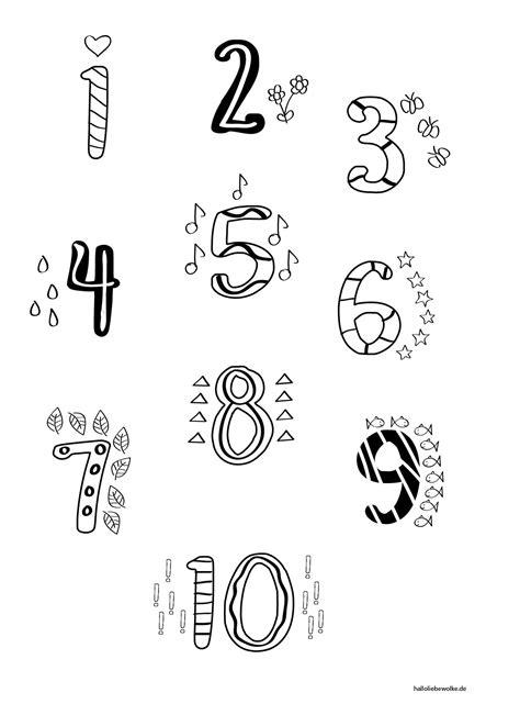 Zahlen Ausmalbilder Bis 10