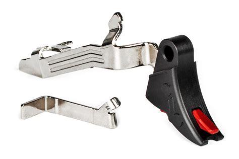 Zev Pro Curved Face Trigger Upgrade Bar Kit For Glock Gen 5 Curved Face Trigger Upgrade Bar Kit Glock Gen 5 Blkred
